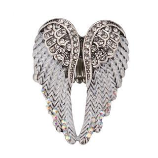 特価高品質!大天使の羽根のリング 白 フリーサイズ 男女兼用 8号~23号相当(リング(指輪))