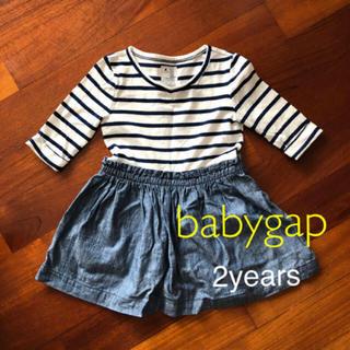 ベビーギャップ(babyGAP)のbaby gap ワンピース 95 2y ドッキング(ワンピース)