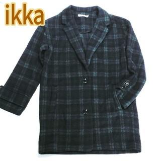 イッカ(ikka)の【ikka・イッカ】チェスターコート,着回ししやすく、かわいいチェック柄(チェスターコート)