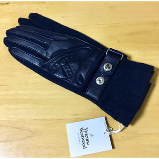 Vivienne Westwood - 正規品 新品 ヴィヴィアン ウエストウッド レザー 型押し 手袋