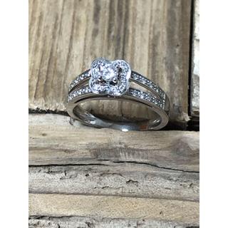 モーブッサン K18WG ダイヤモンドリング 7.5号(リング(指輪))
