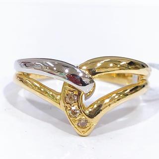K18 PT900 ダイヤモンド 透かしリング(リング(指輪))