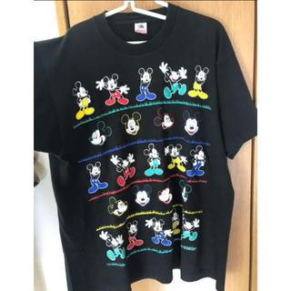 ディズニー ミッキー Tシャツ 黒 ヴィンテージ(Tシャツ(半袖/袖なし))