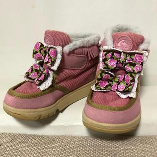 ムーンスター(MOONSTAR )のムーンスター♡女の子♡ショートブーツ♡靴♡ママコレクションコラボ(ブーツ)