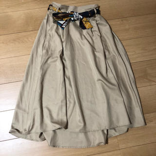 セシルマクビー(CECIL McBEE)の♡ CECIL Mc BEE スカーフ風ベルト付きロングヘムスカート(ロングスカート)