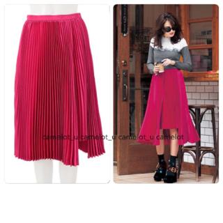 チェスティ(Chesty)の新品タグ付き chesty プリーツスカート Pleats Skirt(ひざ丈スカート)