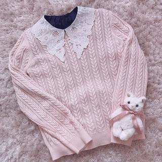 グリモワール(Grimoire)の本日限定 レア baby pink knit(ニット/セーター)