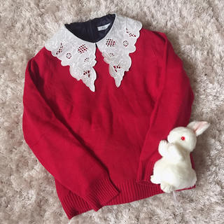 グリモワール(Grimoire)の本日限定 レア strawberry color knit(ニット/セーター)