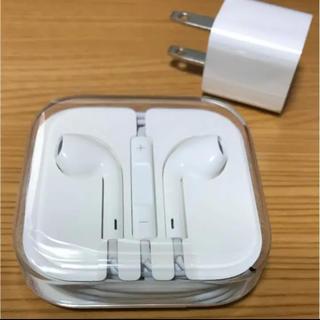 アップル(Apple)のiPhone6 付属品 イヤホン+アダプタセット☆純正品(ヘッドフォン/イヤフォン)
