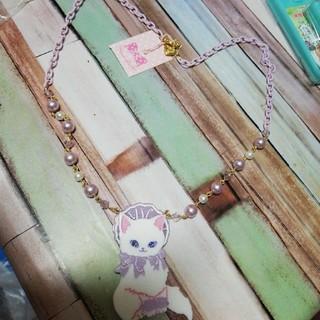 アンジェリックプリティー(Angelic Pretty)のキャットネックレス未使用タグつき ラベンダー(ネックレス)