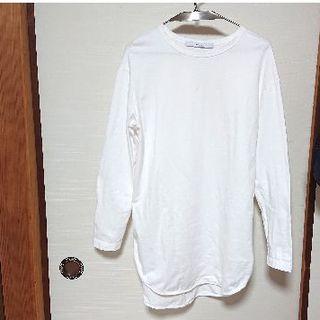フレームワーク(FRAMeWORK)のFRAMeWORK ラウンドヘムカットソー ホワイト(Tシャツ(長袖/七分))