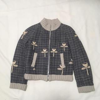 ミナペルホネン(mina perhonen)のミナペルホネン  刺繍 アウター(ブルゾン)