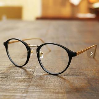 ビームス(BEAMS)の👓 黒×ゴールド 伊達メガネ 👓(サングラス/メガネ)