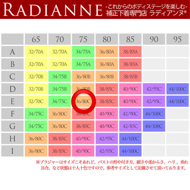 脇肉カップインすっぴんブラ 36/80C E75 Radianne ラディアンヌ レディースの下着/アンダーウェア(ブラ)の商品写真