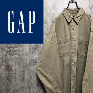 GAP - 【激レア】オールドギャップGAP☆ダブルポケットチノシャツ 90s