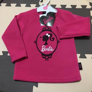 バービー(Barbie)の90cm バービー Barbie  BARBIE トップス 裏起毛 トレーナー (Tシャツ/カットソー)
