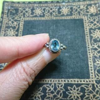 ブルートパーズ シルバー 指輪(リング(指輪))