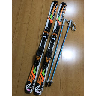 ROSSIGNOL - ROSSIGNOL ロシニョール 120㎝  ポール3点セット 子供用スキー