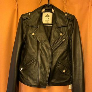 イエナスローブ(IENA SLOBE)のイエナスローブのレザーライダースジャケット ブラック サイズ36(ライダースジャケット)