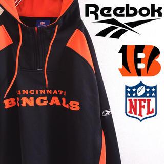 リーボック(Reebok)の古着 美品 シンシナティ・ベンガルズ NFL リーボック プルオーバー パーカー(パーカー)