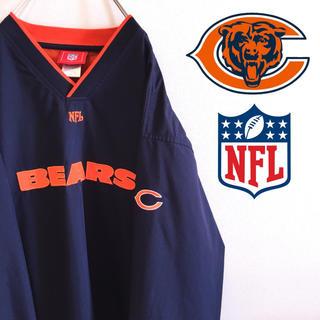 Reebok - 古着 美品 シカゴ・ベアーズ NFL プルオーバー ウィンドブレーカー