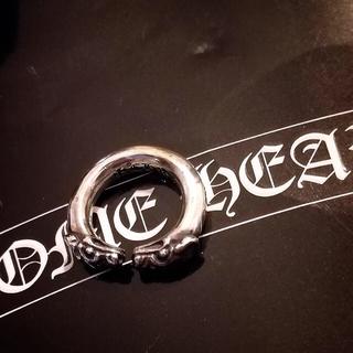 クロムハーツ(Chrome Hearts)の本日限定値下げ 正規品 クロムハーツ ダブルドッグ リング #8 美品 シルバー(リング(指輪))