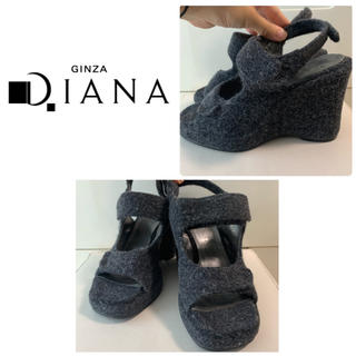 DIANA - ダイアナ ダークグレーウール サンダル
