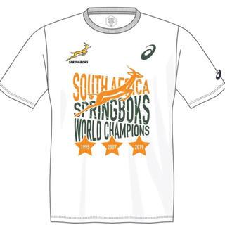 アシックス(asics)のラグビー スプリングボクス優勝記念 Tシャツ 南アフリカ asics  Lサイズ(ラグビー)