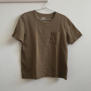 MUJI (無印良品) - 無印良品 太番手天竺編みクルーネック半袖Tシャツ Lサイズ