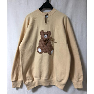ロキエ(Lochie)の最終値下【USA製】vintage Hanesボディ bear sweat!M(トレーナー/スウェット)