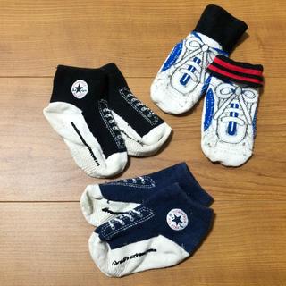 コンバース(CONVERSE)の人気★コンバース  スニーカー 風 靴下3セット12-15cm ベビー 可愛い(靴下/タイツ)