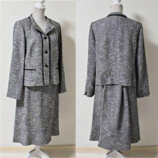 レリアン(leilian)の《高級プレタ》新品訳有 ウール混 刺繍 セットアップ 17+(W86~90)(スーツ)