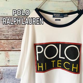 POLO RALPH LAUREN - 【 美品 希少 】 ポロ ラルフローレン 日本未発売 ロゴ Tシャツ 白 XL