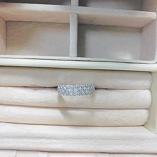 PT900 ダイヤ 1ct パヴェ  ハーフエタニティリング(リング(指輪))