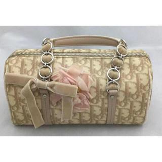 クリスチャンディオール(Christian Dior)のクリスチャンディオール ロマンティックフラワートロッターバッグ ハンドバッグ 鞄(ボストンバッグ)