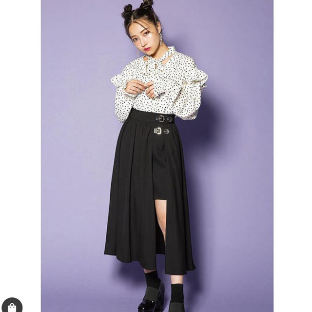 GRL(グレイル)のandgeebee ベルトラップスカート レディースのスカート(ロングスカート)の商品写真