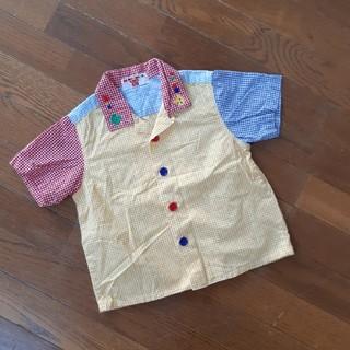ミキハウス(mikihouse)のミキハウス 半袖 チェックシャツ 80(シャツ/カットソー)