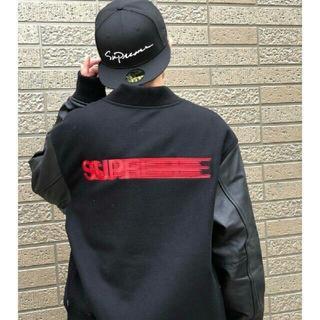 Supreme - Supreme motion logo varsity jacket XL