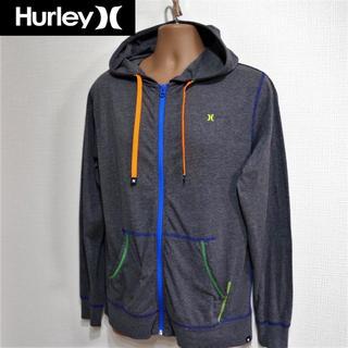 Hurley - ハーレー◆薄手フロントジップパーカー◆ミックスグレー
