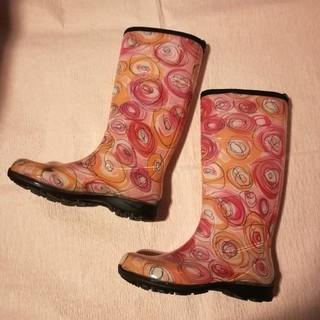ハンター(HUNTER)のカミック レインブーツ カミック 長靴 カナダ製 ピンク 可愛い 柄 24cm(レインブーツ/長靴)