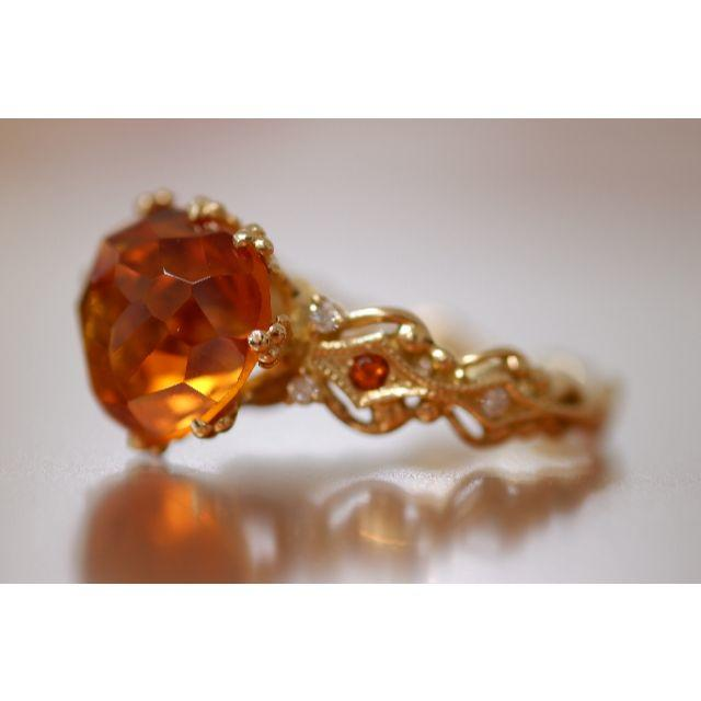 K18 Je stella ジュステラ シトリン ダイヤモンド リング 石垣順子 レディースのアクセサリー(リング(指輪))の商品写真