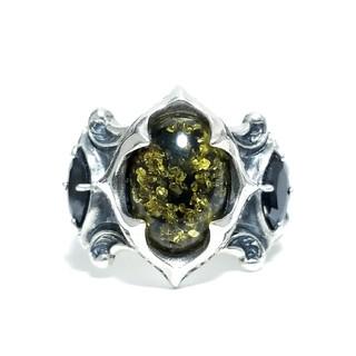 アルテミスクラシック(Artemis Classic)のアルテミスクラシック  トレサリーグリーンアンバーリング 緑琥珀 フリーサイズ(リング(指輪))