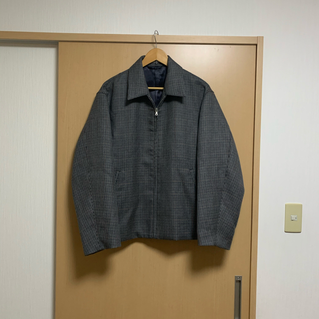 COMOLI(コモリ)の18A/W AURALEE ダブルチェックジップブルゾン メンズのジャケット/アウター(ブルゾン)の商品写真