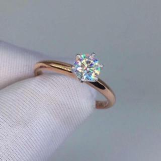【0.5カラット】輝くモアサナイト ダイヤモンド リング(リング(指輪))