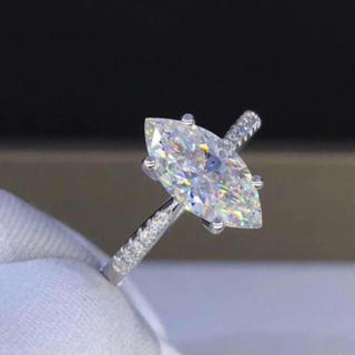 【フォロワー様限定価格】1.5カラット モアサナイト ダイヤモンド リング(リング(指輪))