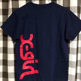 エックスガール(X-girl)のネイビー ロゴTシャツ(Tシャツ(半袖/袖なし))