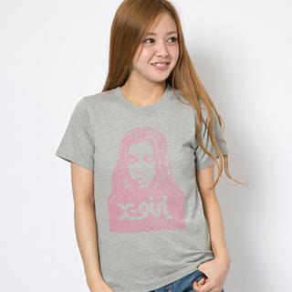 エックスガール(X-girl)の数回のみ 🍎 フェイス柄Tシャツ(Tシャツ(半袖/袖なし))