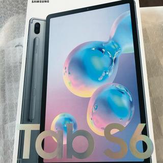 サムスン(SAMSUNG)の未開封 新品 Galaxy tab s6 256gb lte グレー(タブレット)