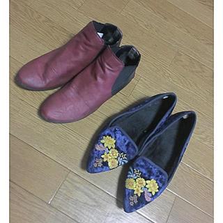 ジーユー(GU)の24センチ!靴セット!(ローファー/革靴)