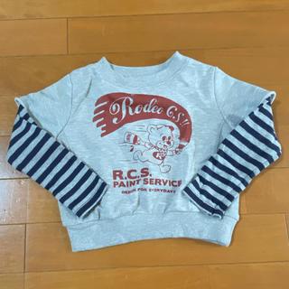 ロデオクラウンズワイドボウル(RODEO CROWNS WIDE BOWL)のロデオクラウンズワイドボウル 重ね着風 キッズ 90 95(Tシャツ/カットソー)